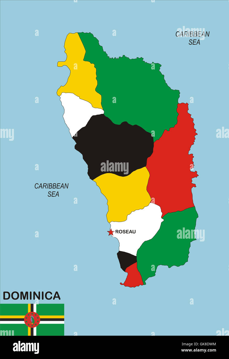 Map Of Dominica Stock Photos Map Of Dominica Stock Images Alamy