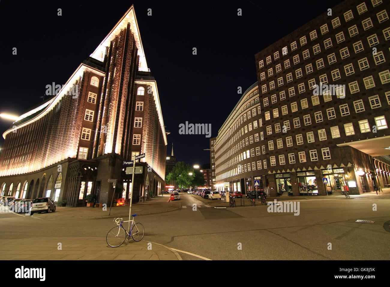 chilehaus hamburg - Stock Image