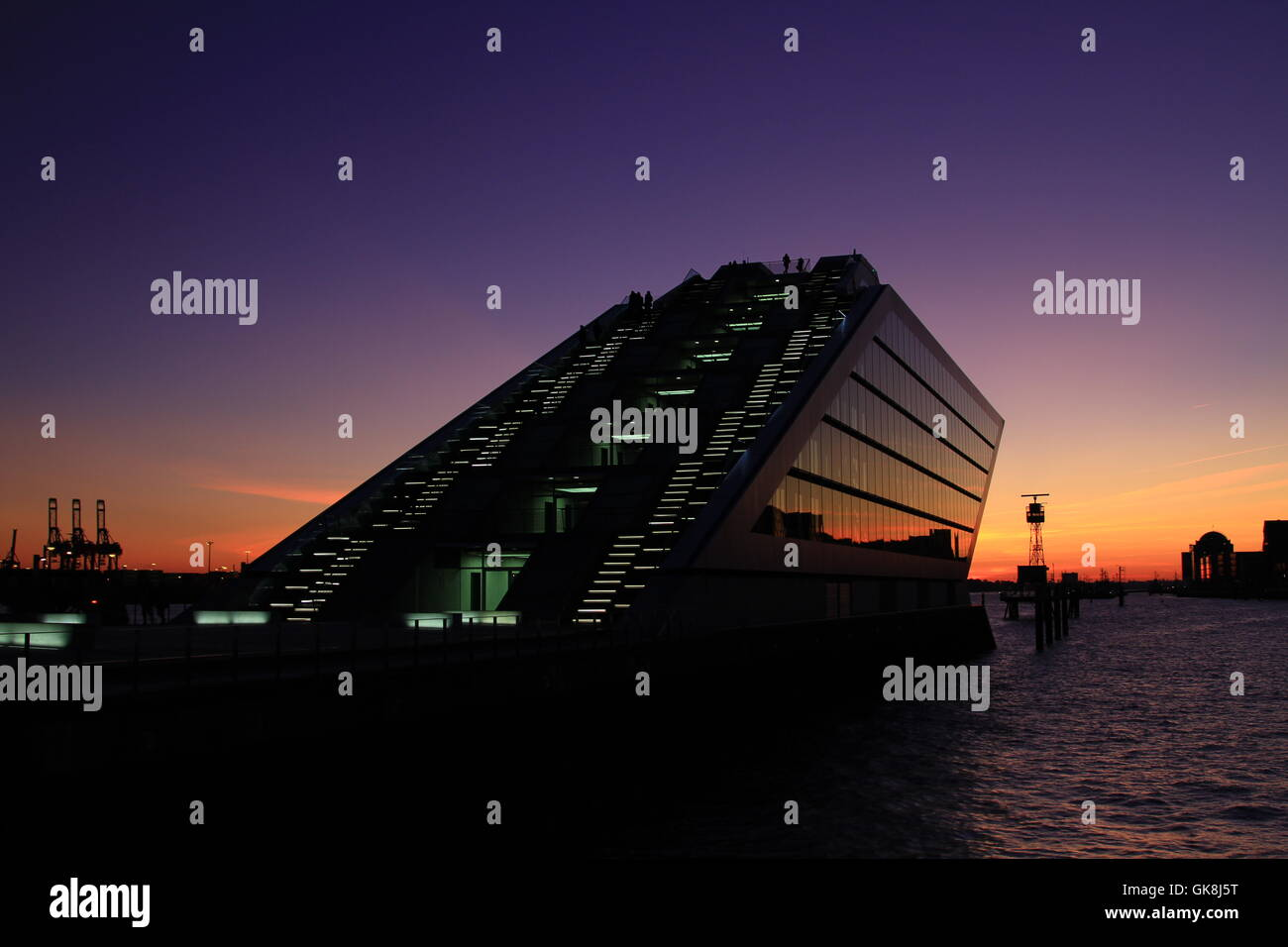 harbor hamburg gangplanks - Stock Image
