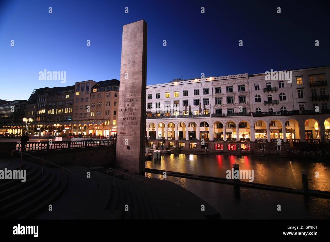 harbor hamburg harbours - Stock Image