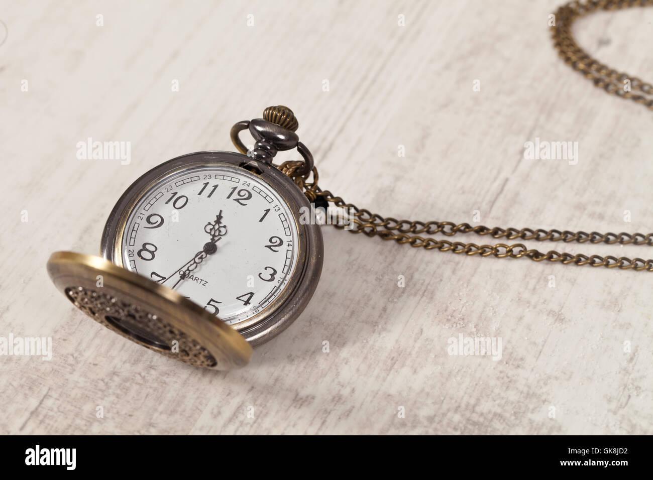 antique clock hour - Stock Image