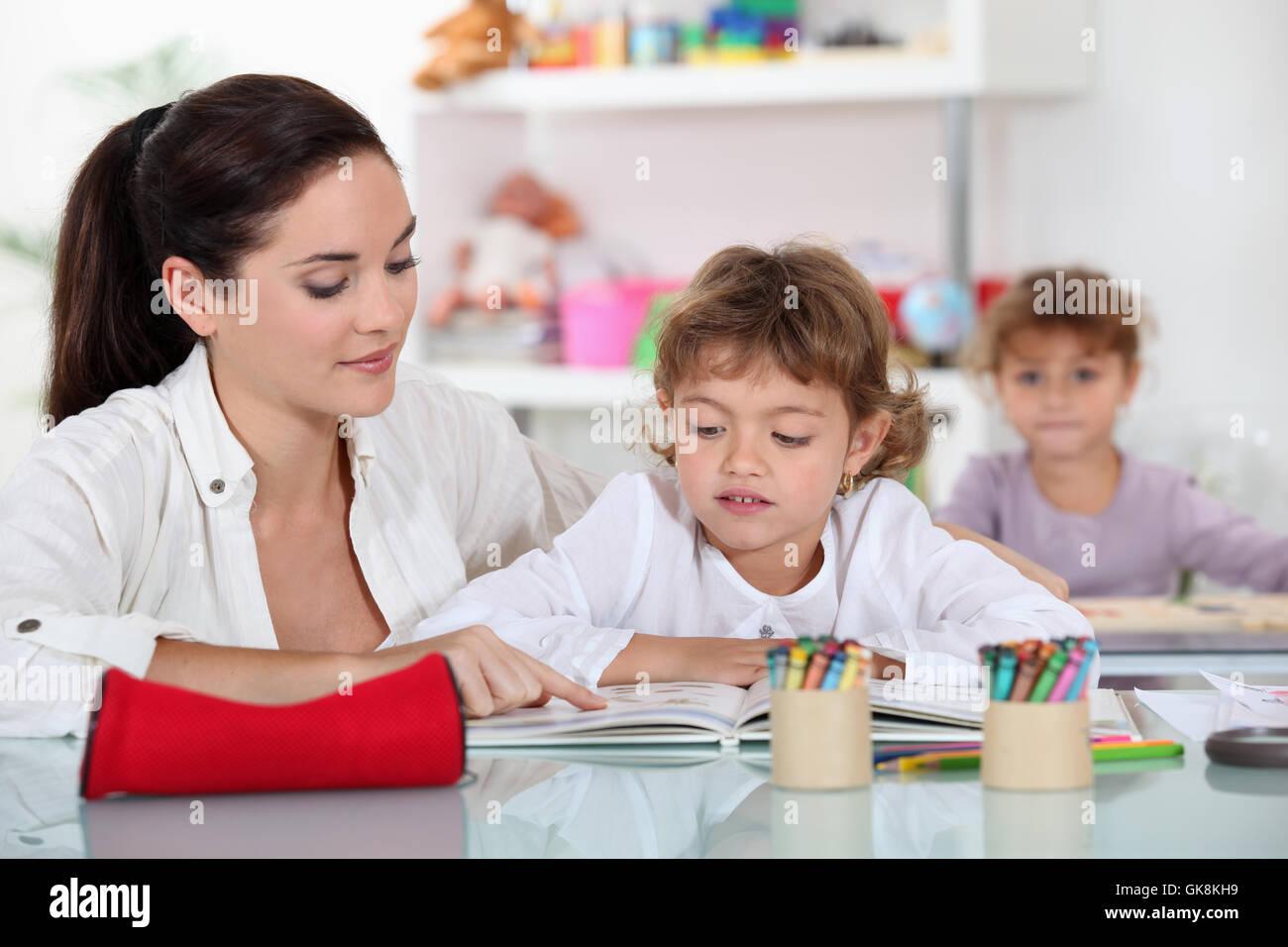 education class infants - Stock Image