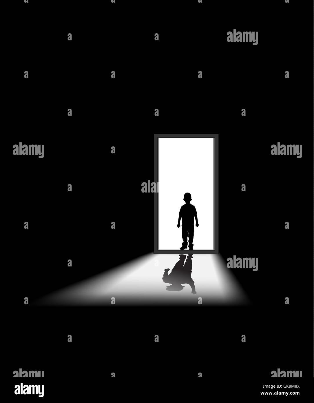 darkness black swarthy - Stock Image