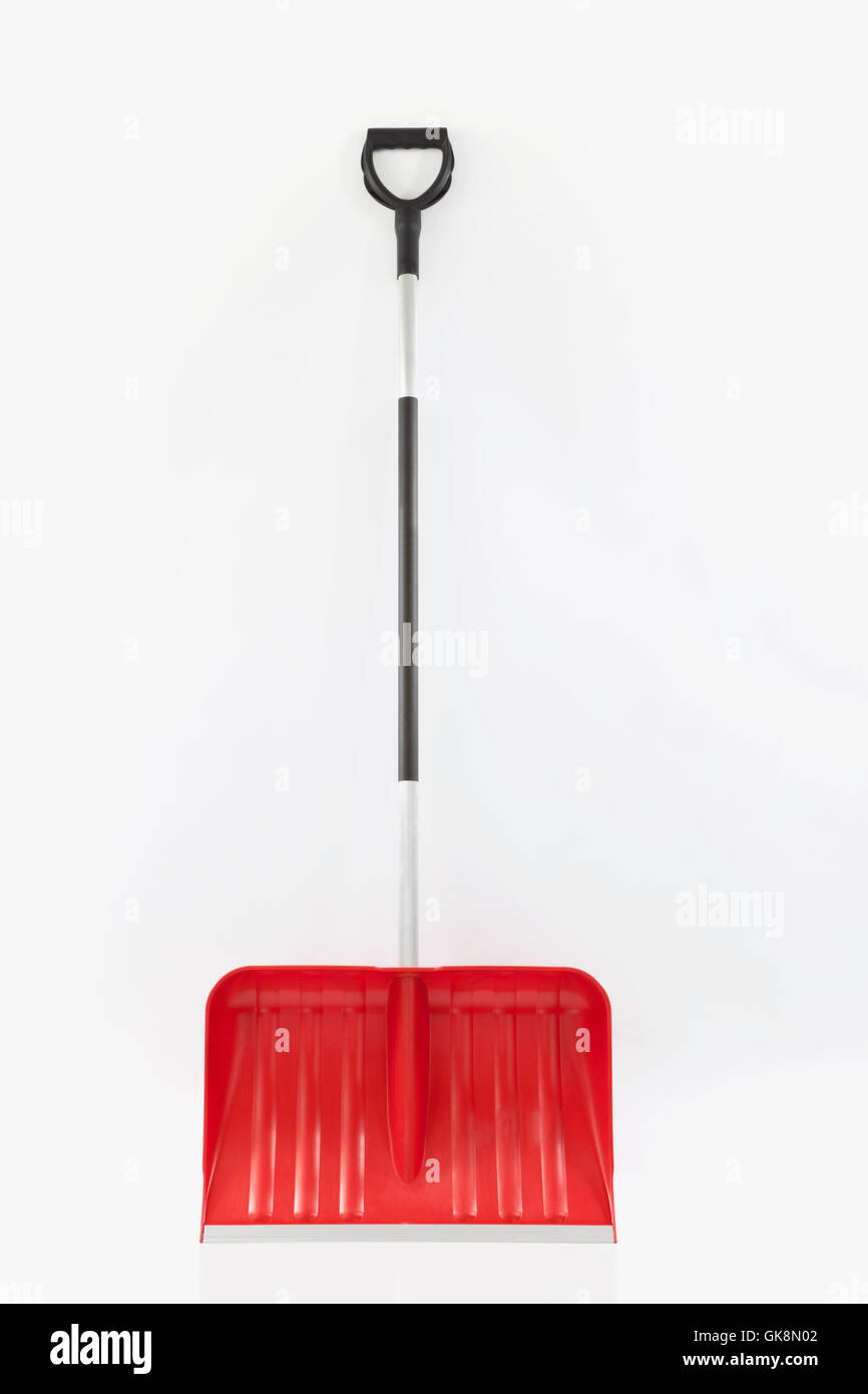 snow shovel - Stock Image