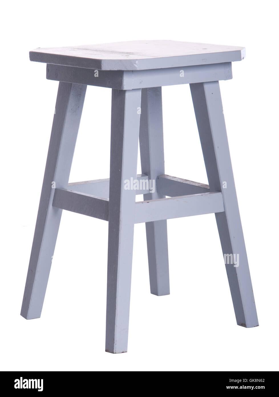 stool isolated furniture - Stock Image