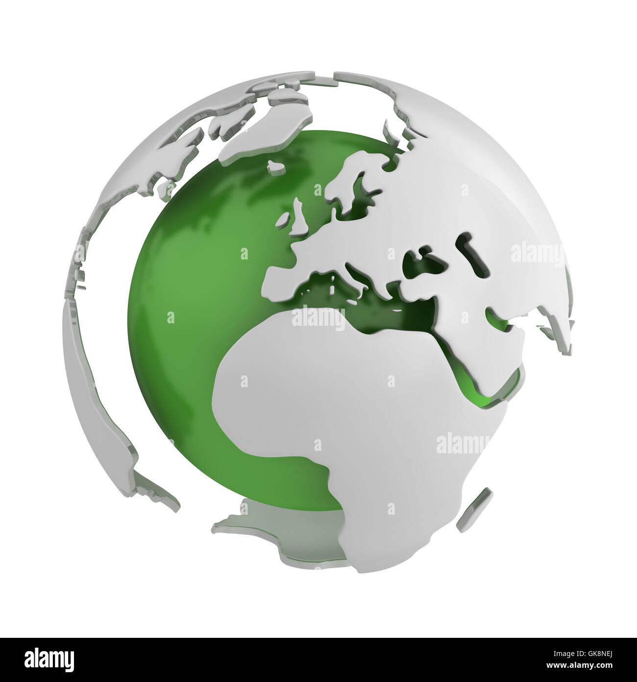 ball green ecology - Stock Image