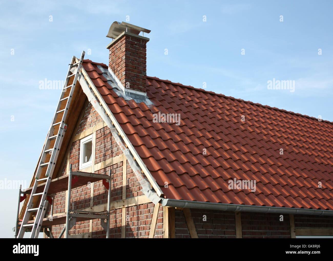 frame-work scaffold scaffolding - Stock Image