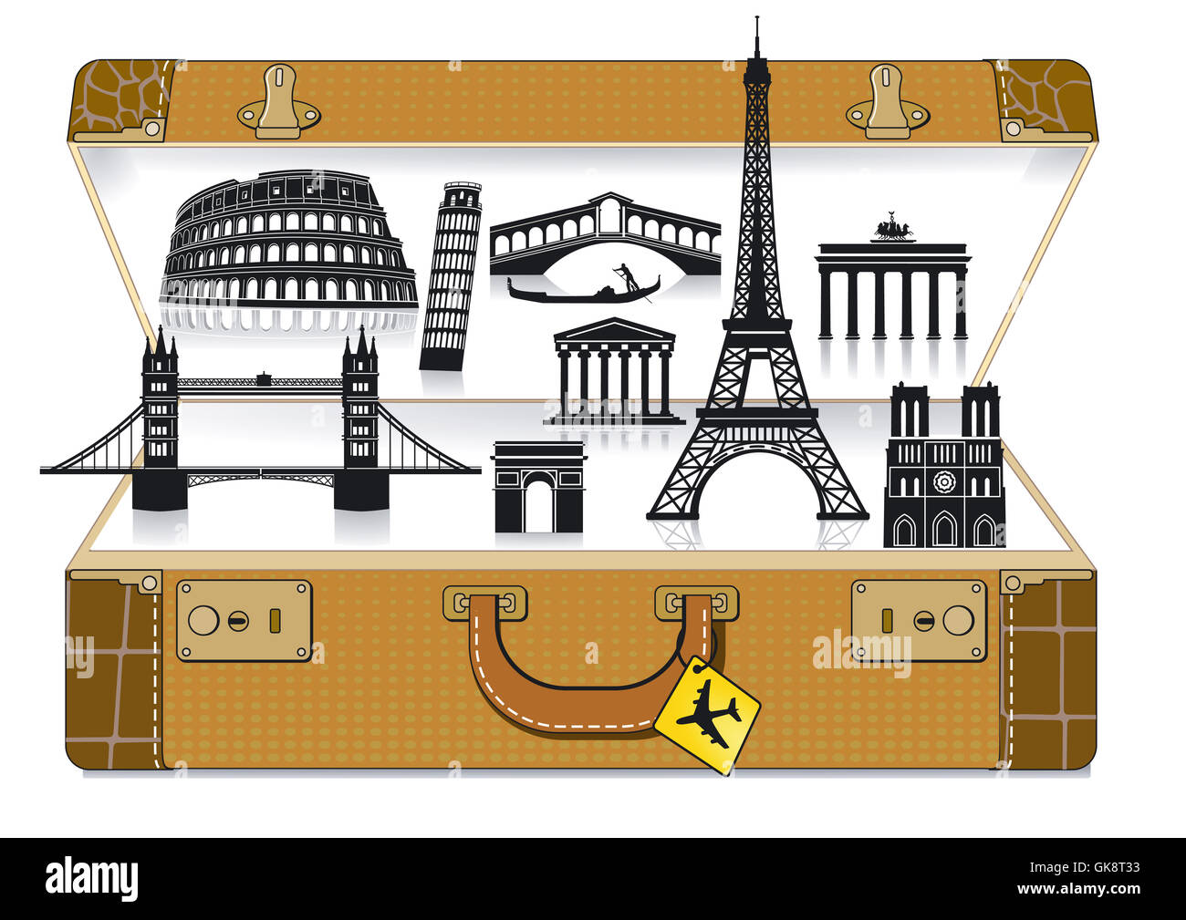 tower travel holiday - Stock Image