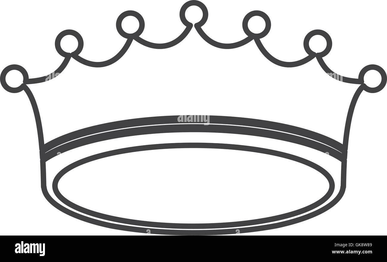 crown royal king design - Stock Image