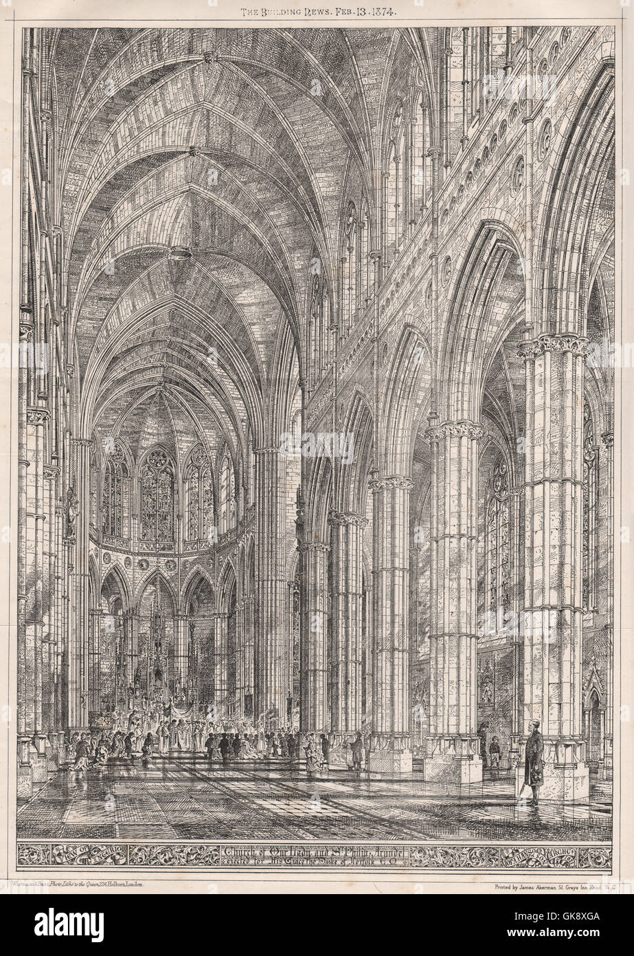 Church of Our Lady & St. Philip, Arundel, for the Duke of Norfolk. Sussex, 1874 - Stock Image