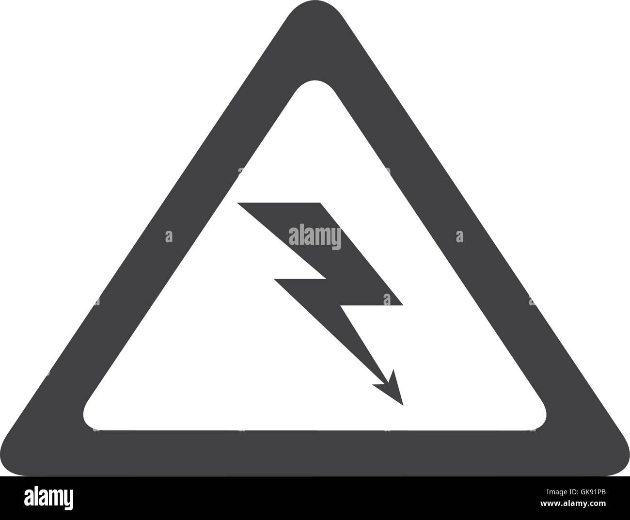 Electrical Shock Hazard Symbol Vector Stock Photos & Electrical ...