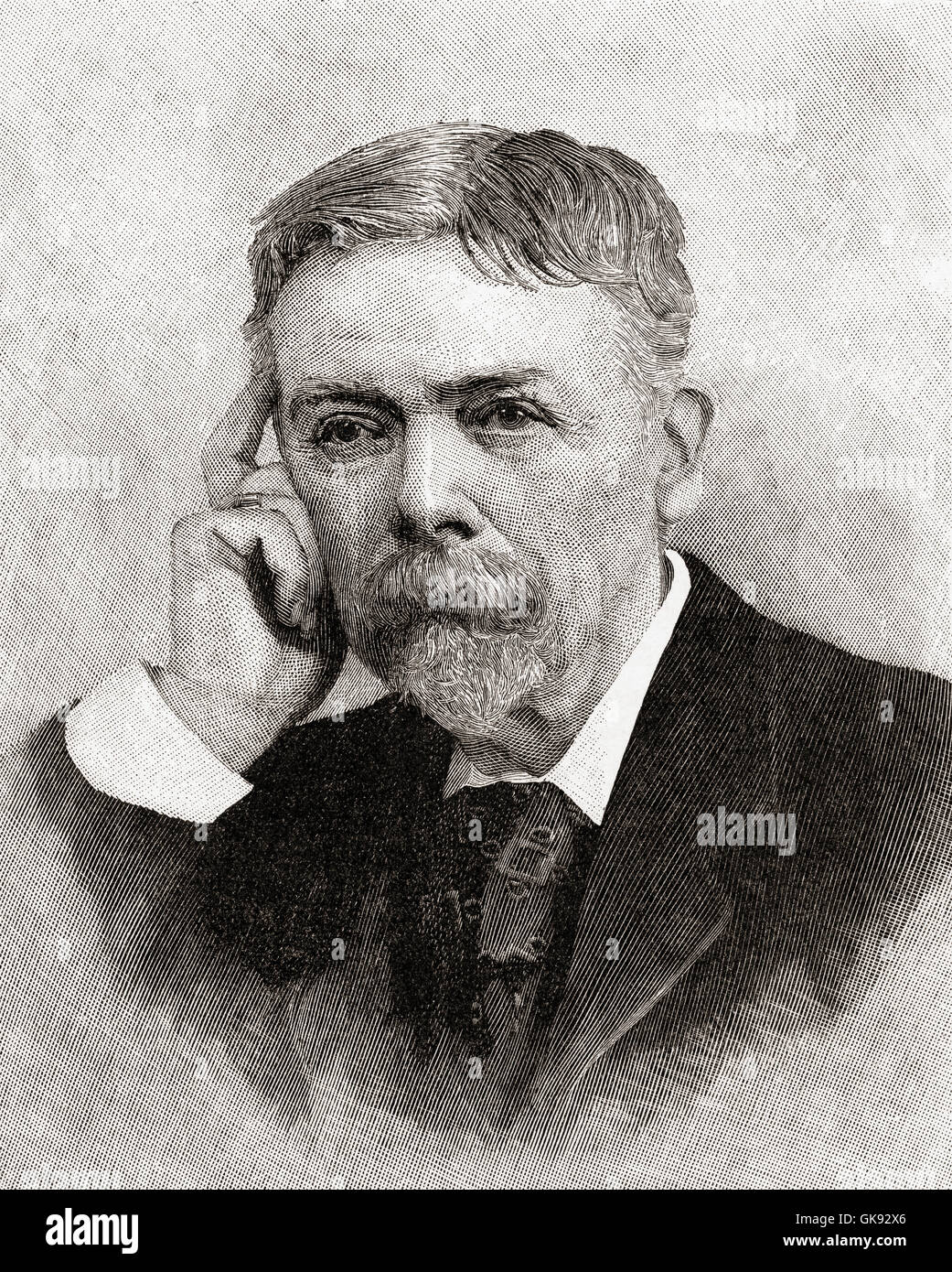 George Louis Palmella Busson du Maurier, 1834 – 1896.  French-British cartoonist and author. - Stock Image