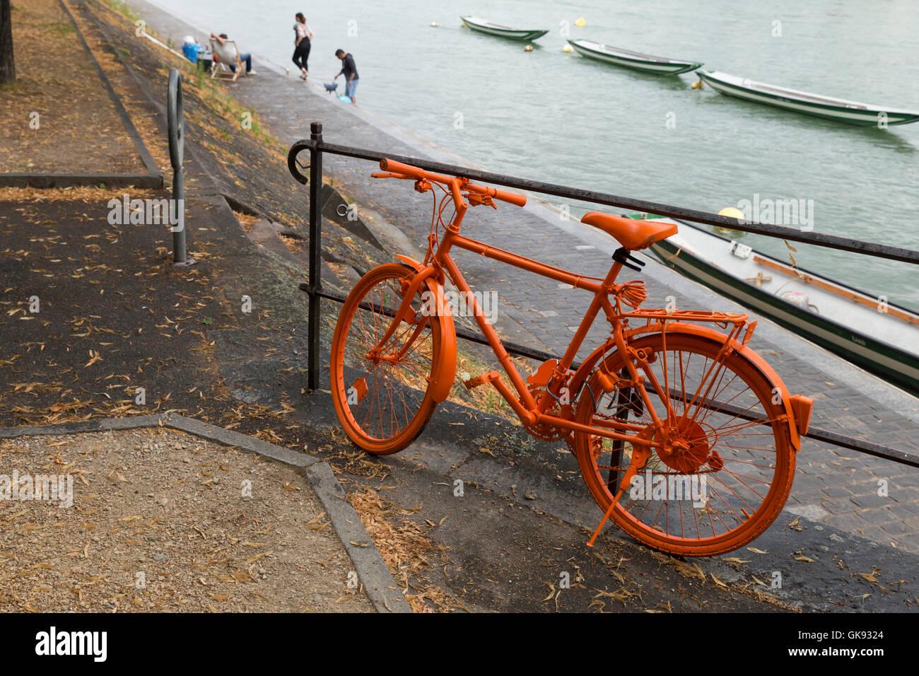 Orange Painted Bike Stock Photos & Orange Painted Bike Stock Images ...