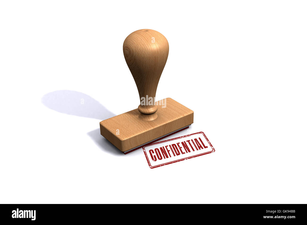 Confidential Stamp - Stock Image