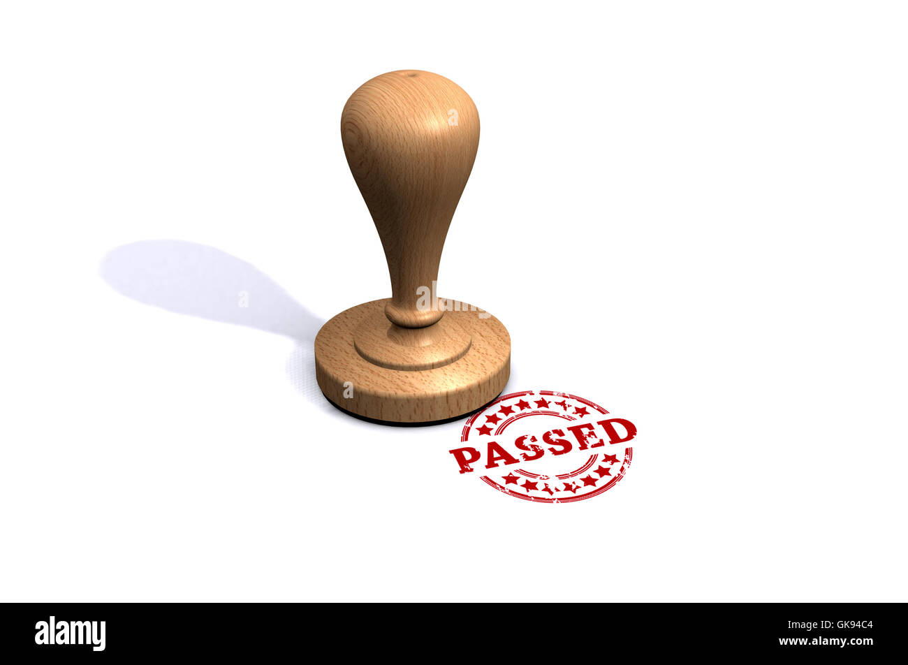 Passed Stamp - Stock Image