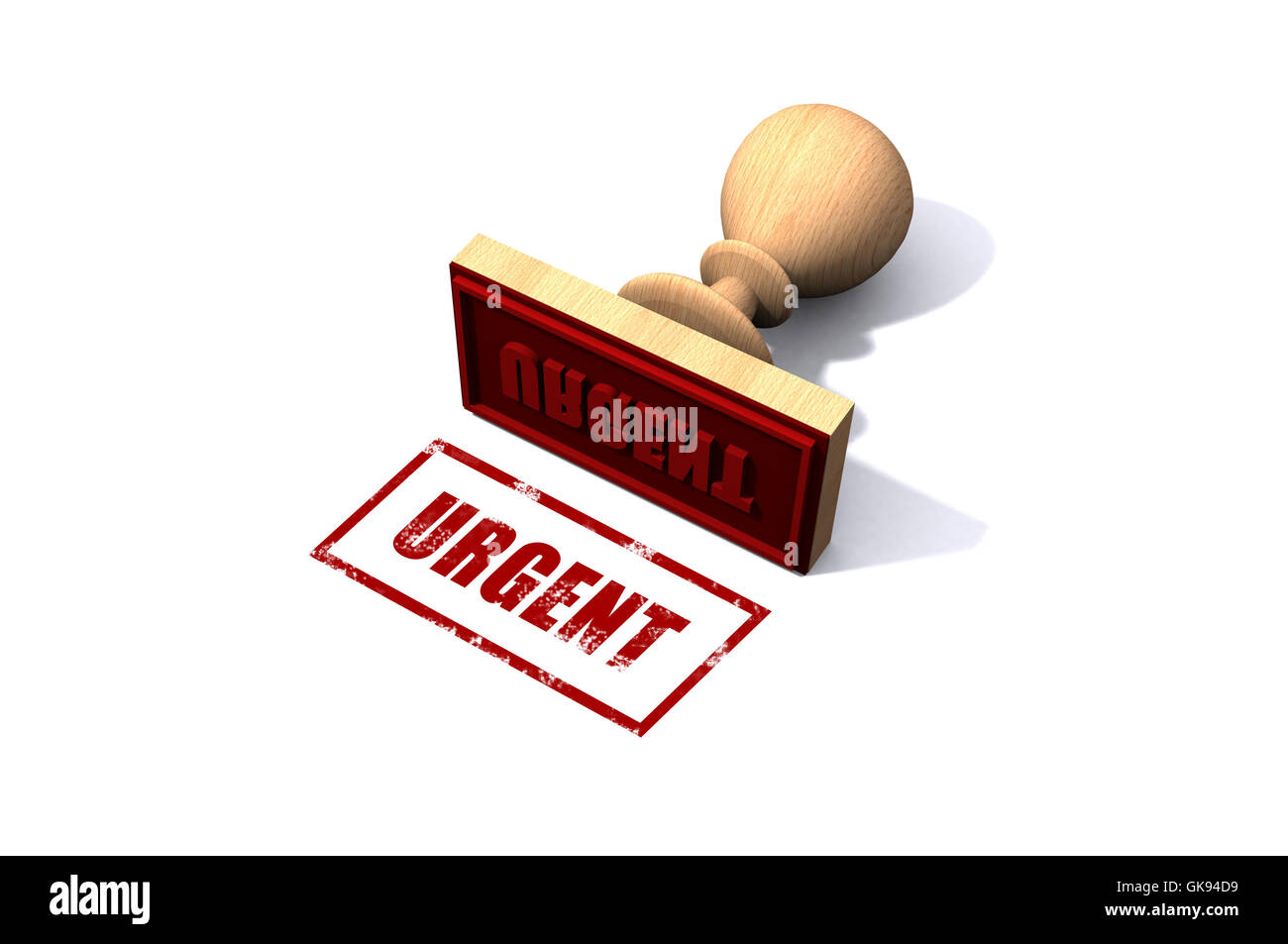 Urgent Stamp - Stock Image