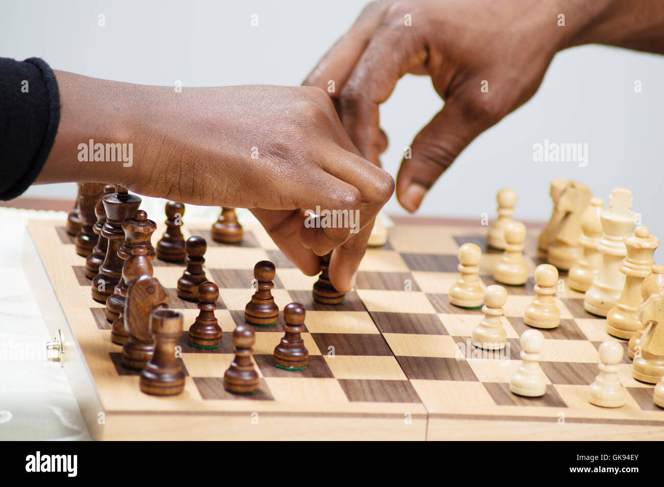 In this game, both players attack simultaneously. - Stock Image
