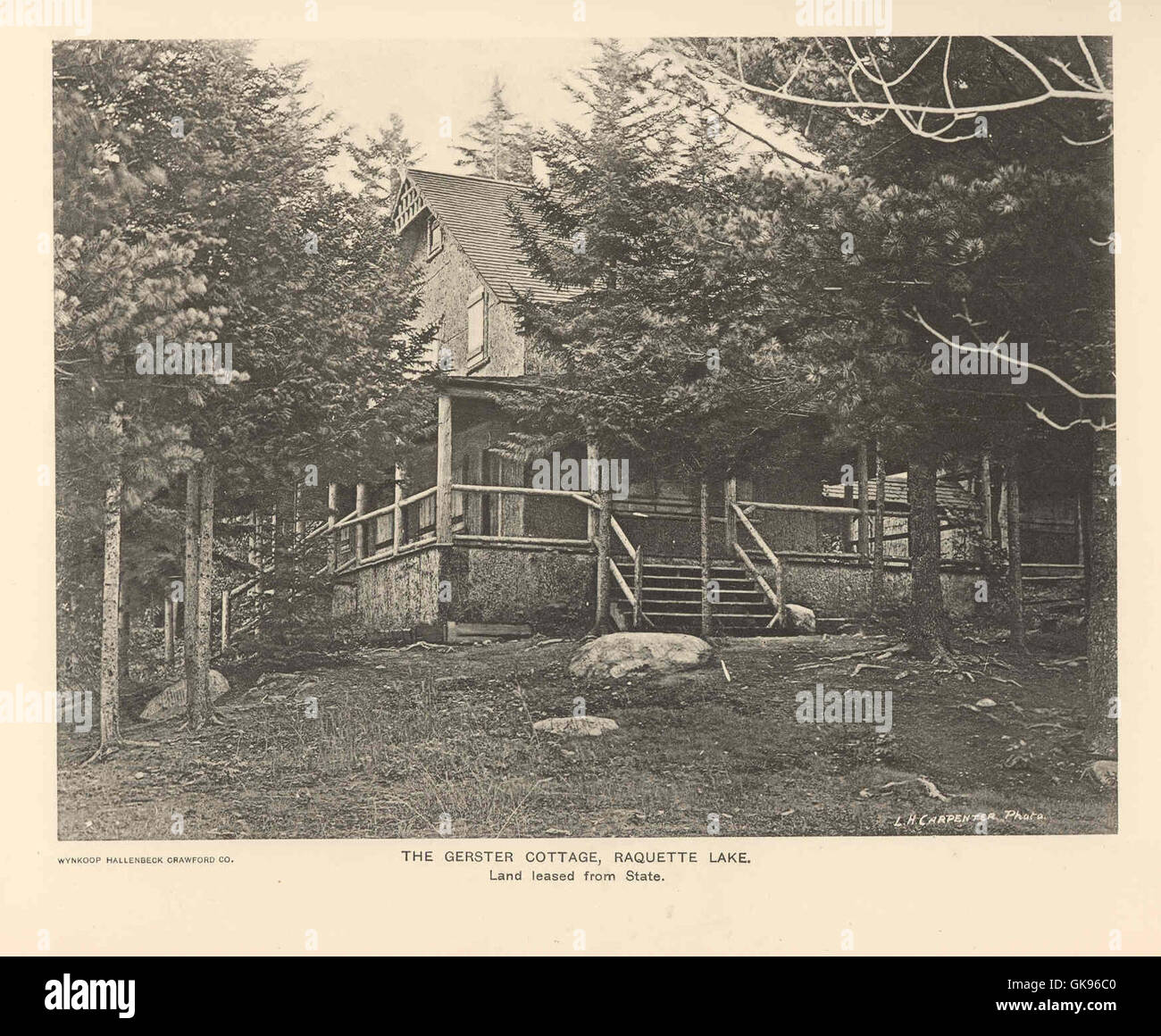 43064 Gerster Cottage, Raquette Lake Land Leased from State - Stock Image