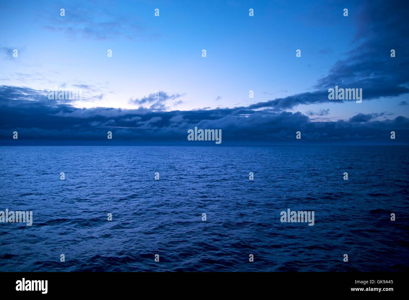 the vastness of the sea - Stock Image