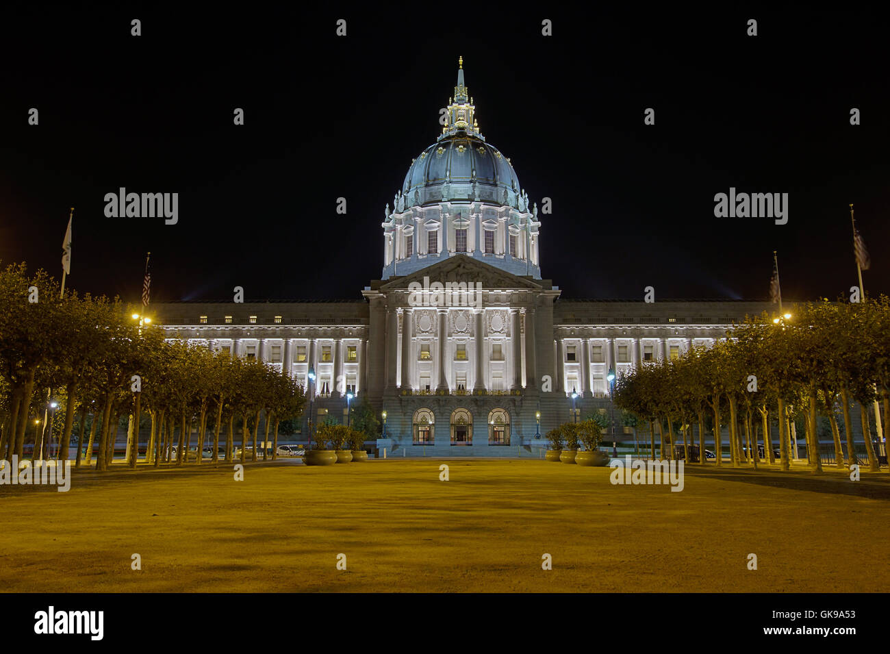 hall city town - Stock Image