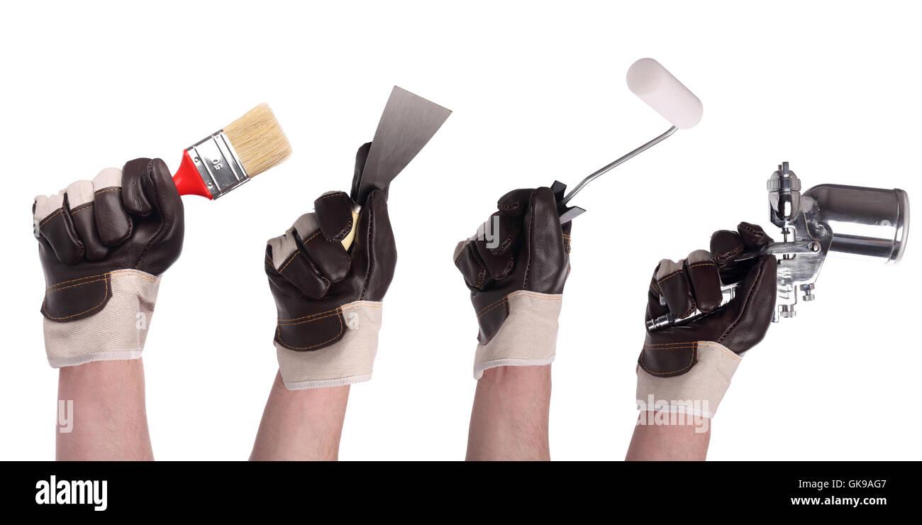 hand tool set 2 - Stock Image