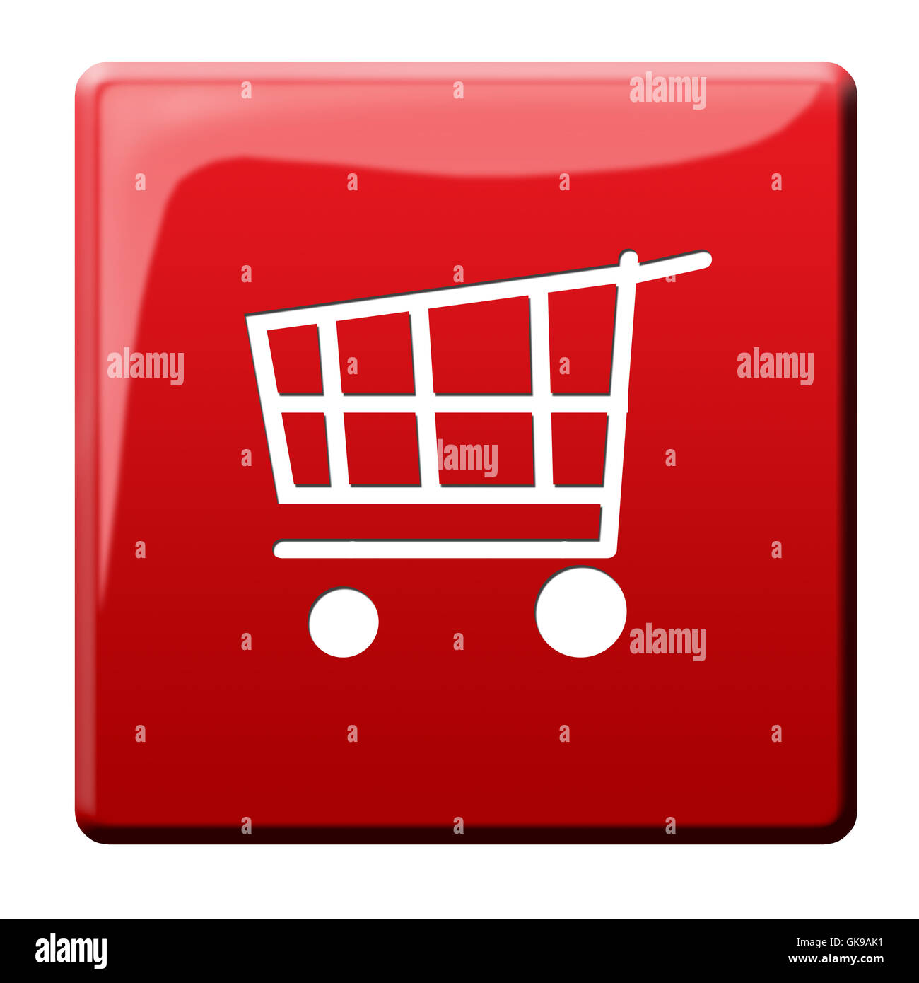 trolley cart symbolism - Stock Image