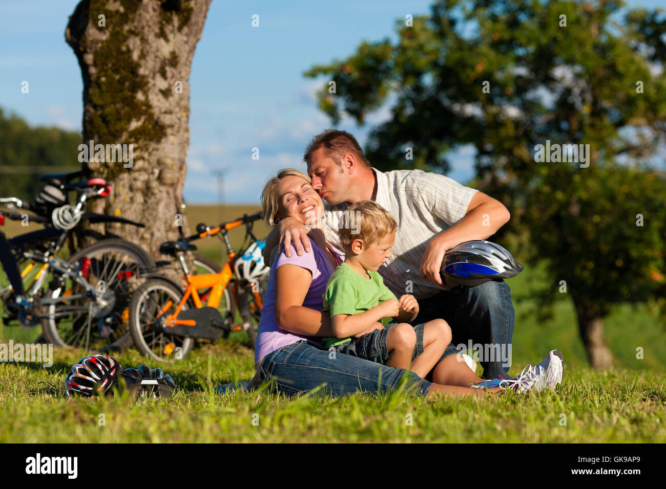summer summerly outing - Stock Image