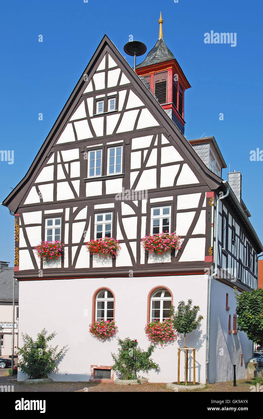 the old town hall of bad vilbel wetteraukreis Stock Photo