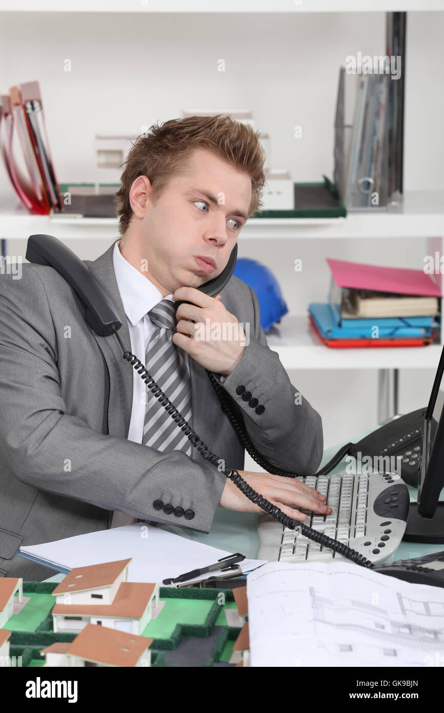 confusion mess adult - Stock Image
