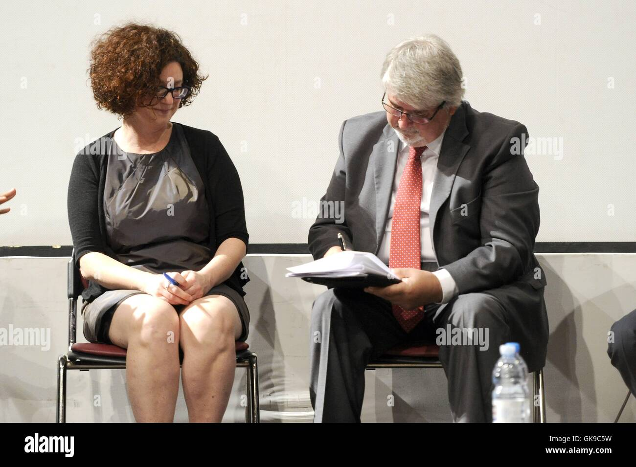 Richard Gere attends the signing of the MoU Ministry and PSD at the Taormina Congress Center during the 62nd Taormina - Stock Image