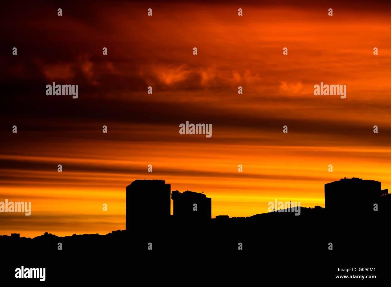 city town night - Stock Image