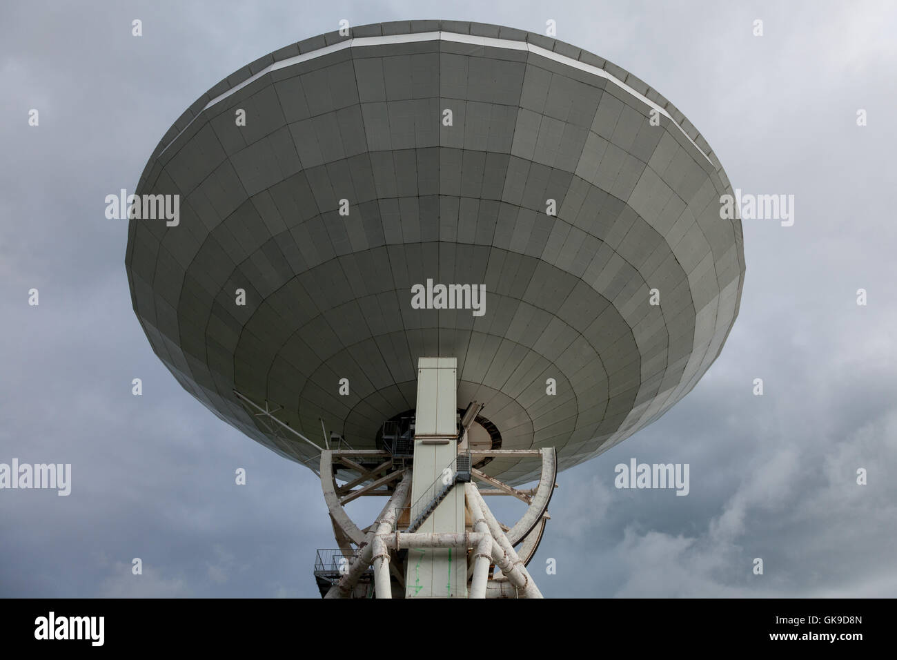 The 45 metre radio telescope at Nobeyama Radio Observatory (NRO) near Minamimaki, Nagano, Japan Tuesday August 16th - Stock Image