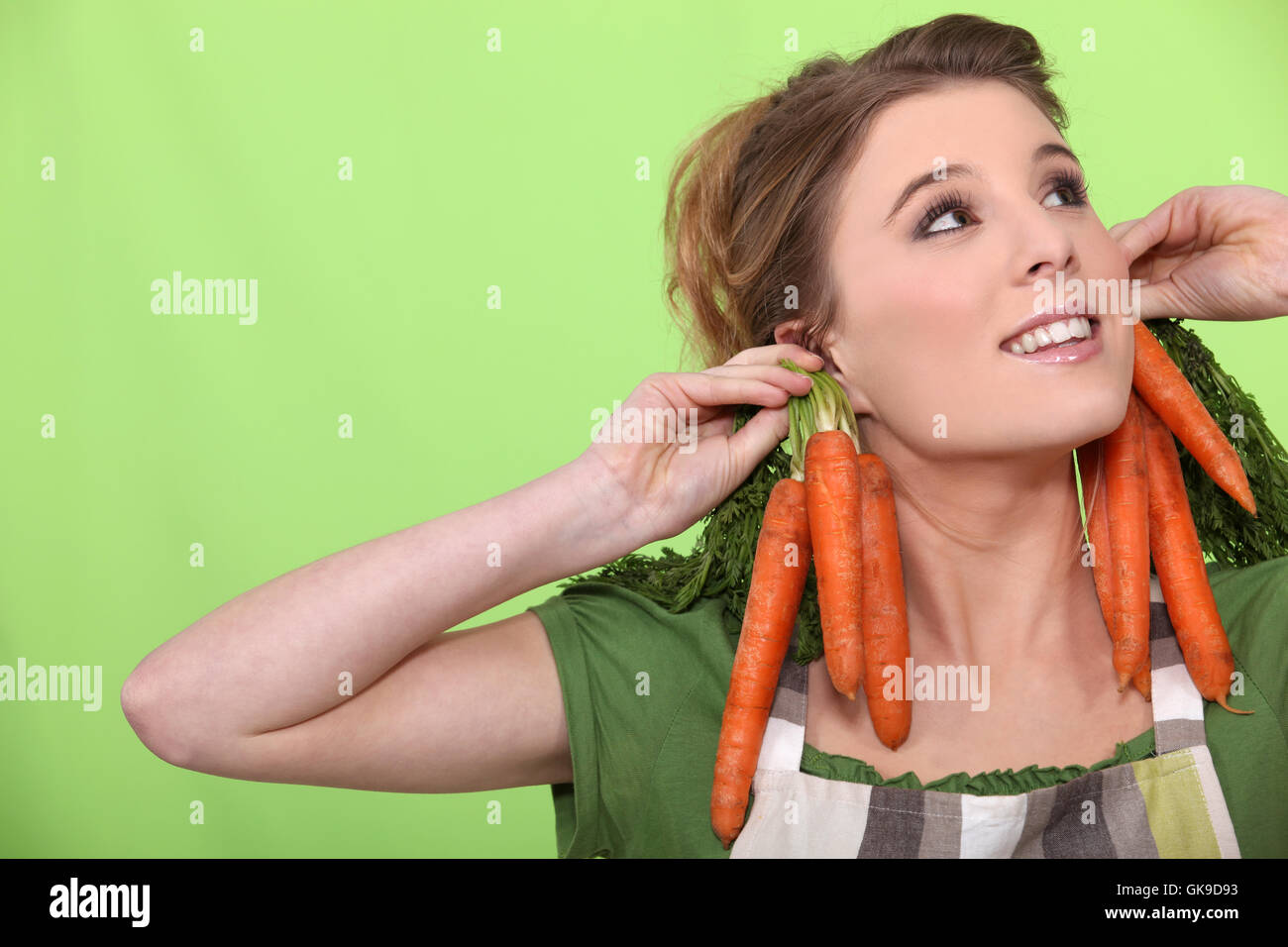 absurd bizarre carrots - Stock Image