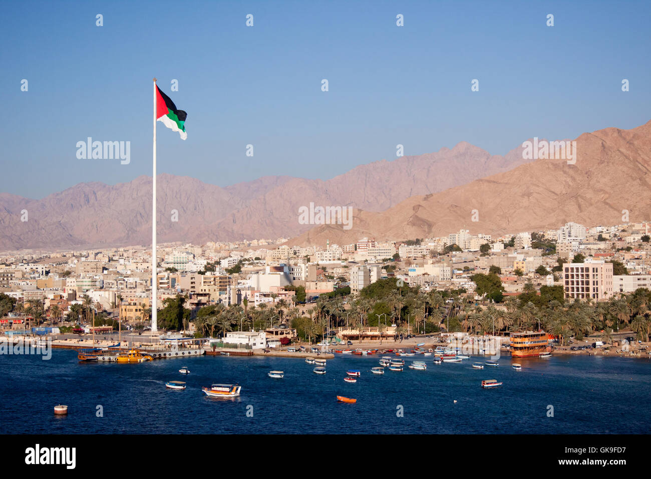 aqaba in jordan - Stock Image