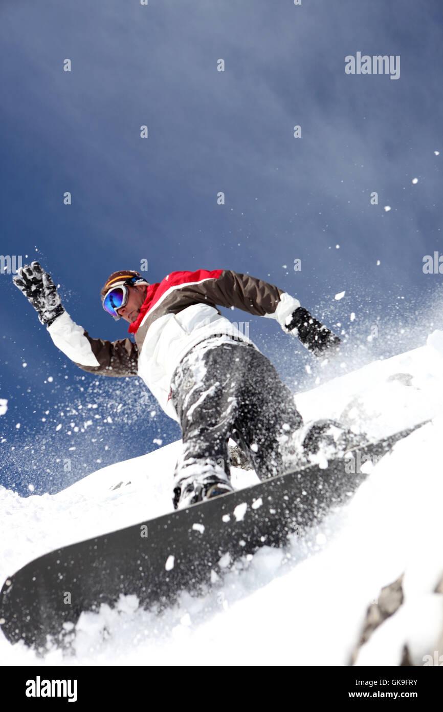 alps adrenalin sport - Stock Image