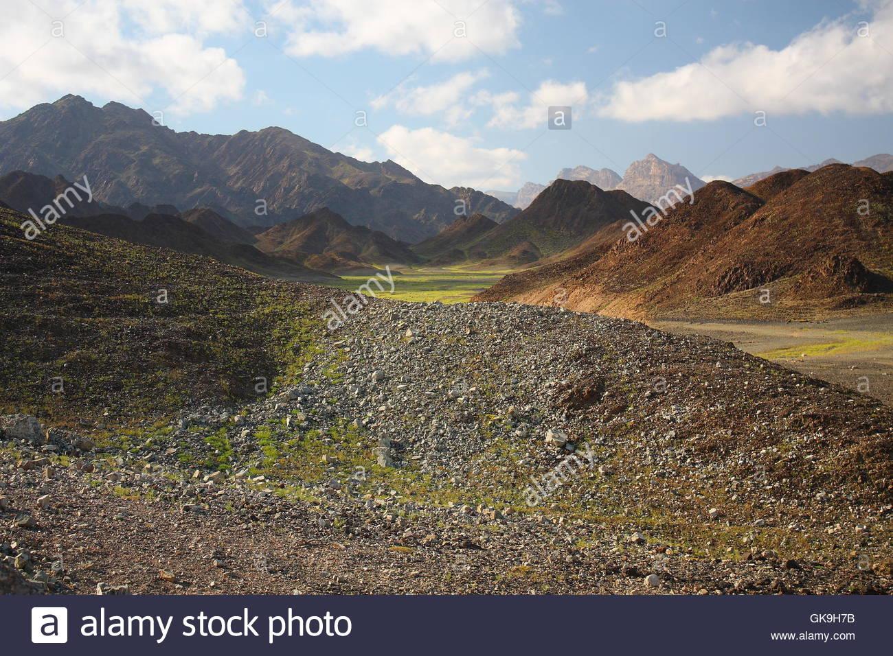 mountains rock yemen - Stock Image
