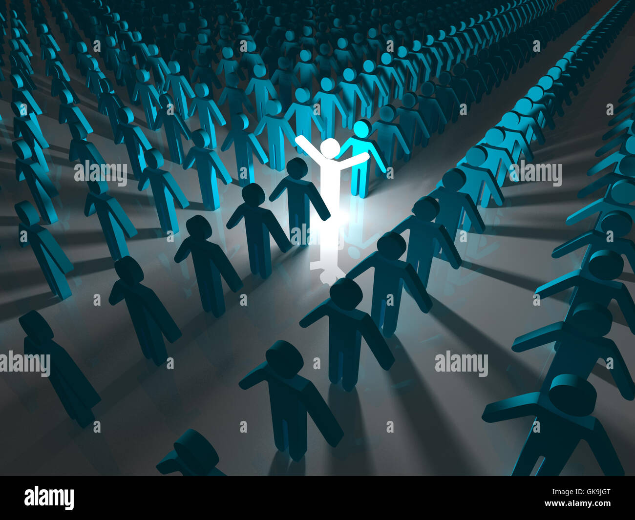 blue humans human beings - Stock Image