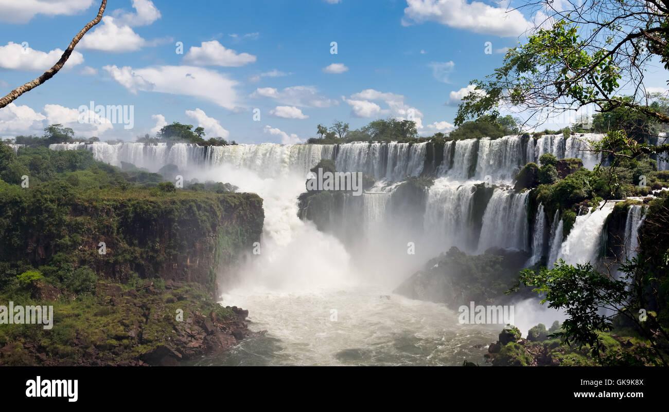 waterfall argentina natural wonder - Stock Image