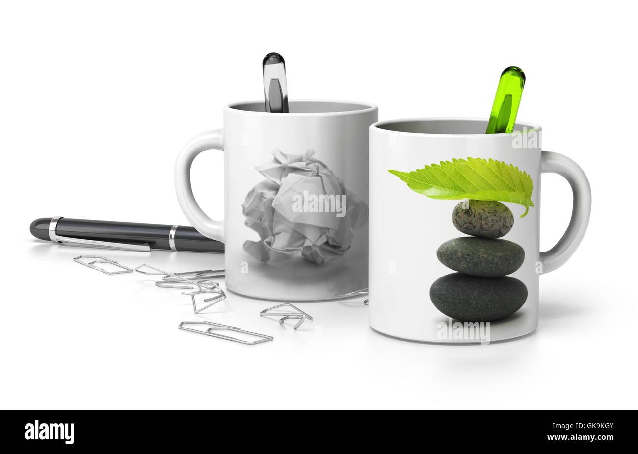 office shine shines - Stock Image