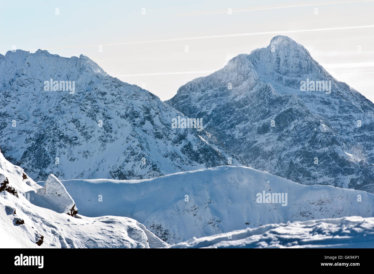 tatra mountains in winter,winter landscape in the mountains - Stock Image