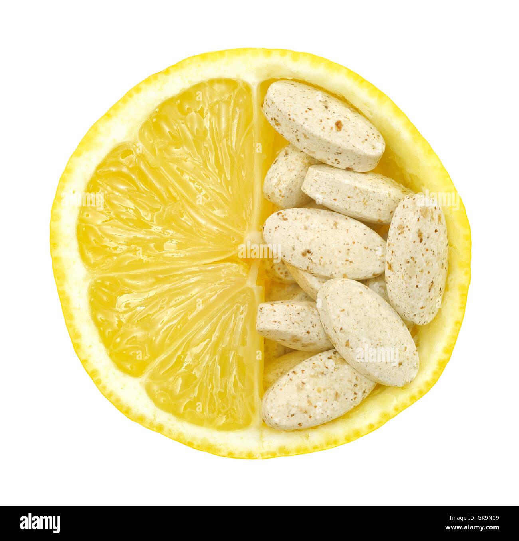 vitamins vitamines fruit - Stock Image