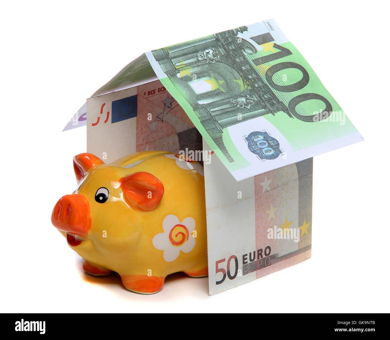 bank lending institution house - Stock Image