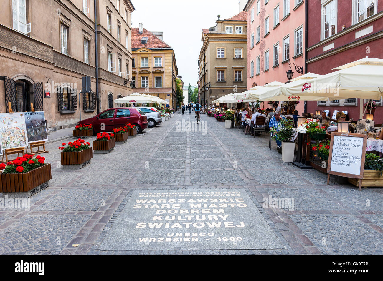 Alley Warsaw - Stock Image