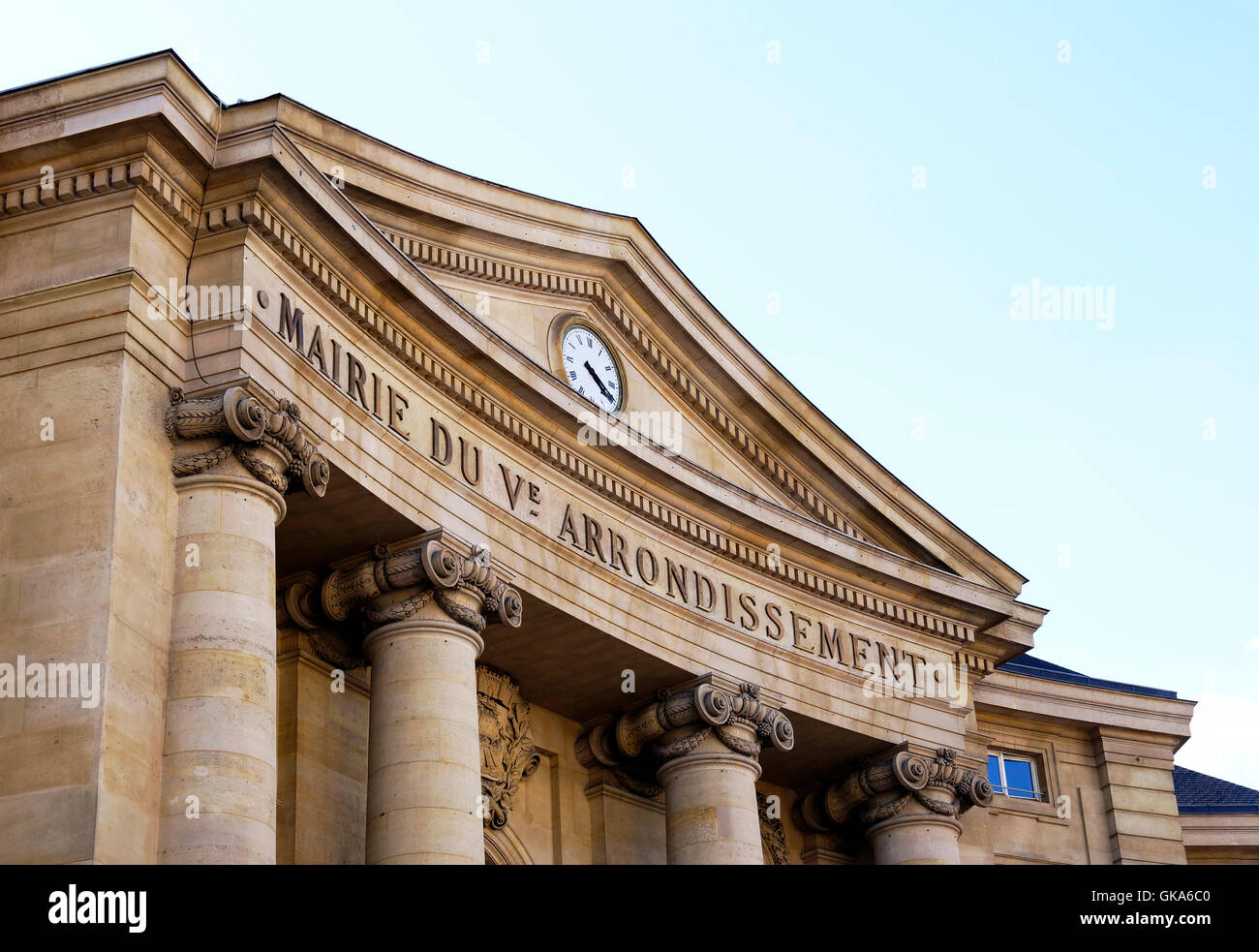 City hall of the 5th arrondissement of Paris, France - Stock Image