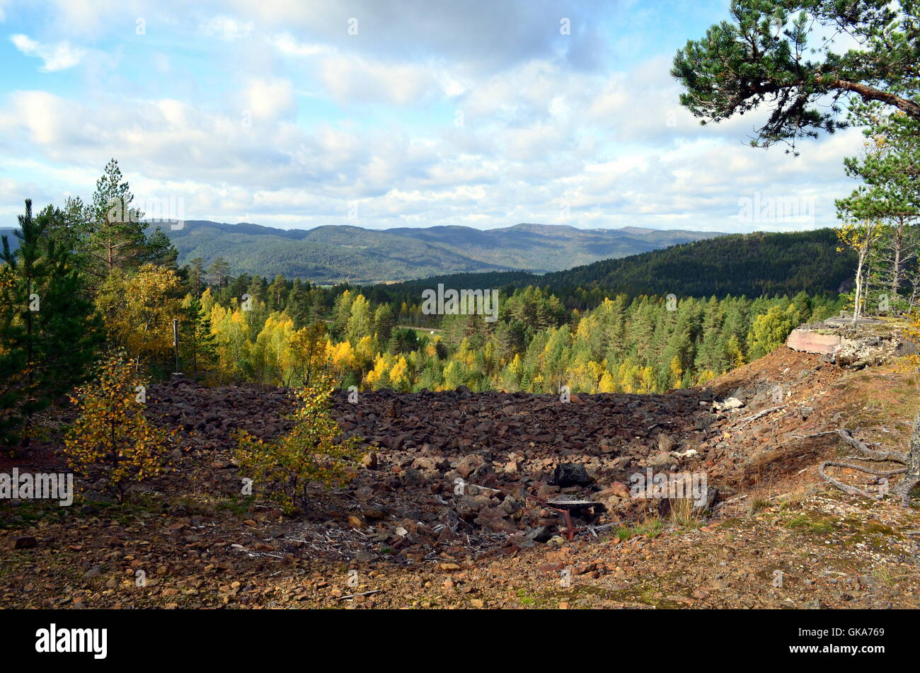 old mining area in Norway - Stock Image