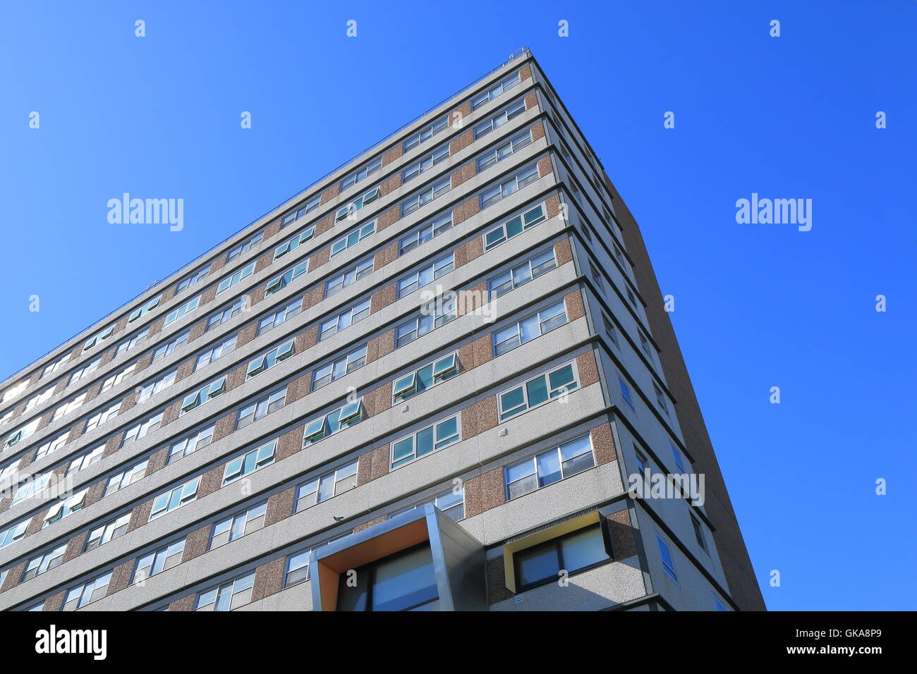 Public Housing building in Melbourne Australia. - Stock Image