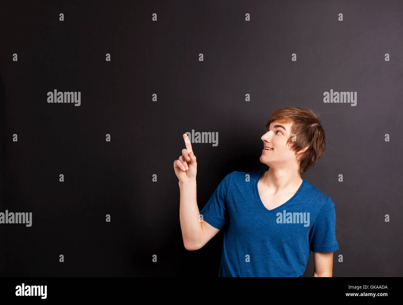 handsome delighted unambitious - Stock Image
