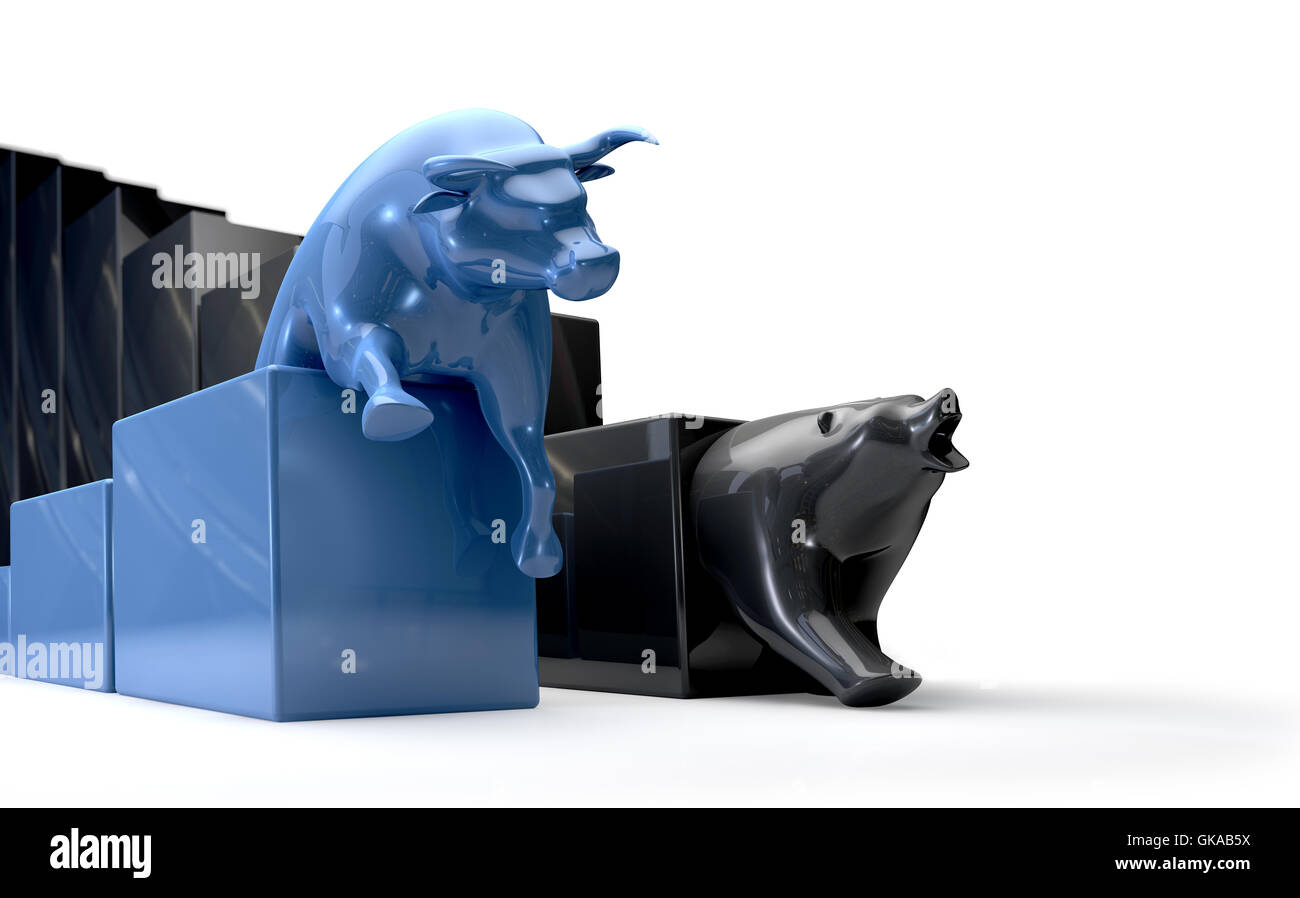 bear animals bull - Stock Image