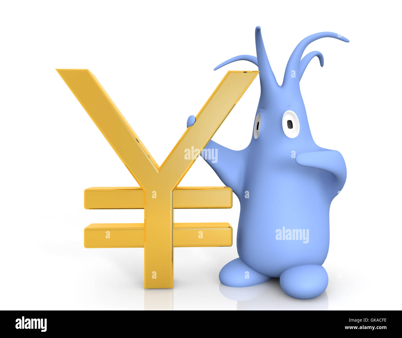 japanese yen currency symbol - Stock Image