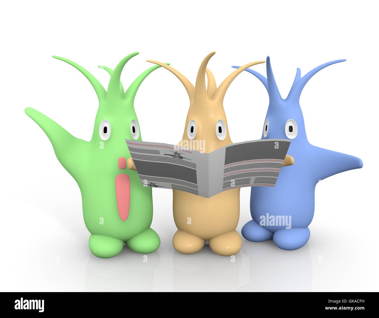 floopi newspaper - Stock Image